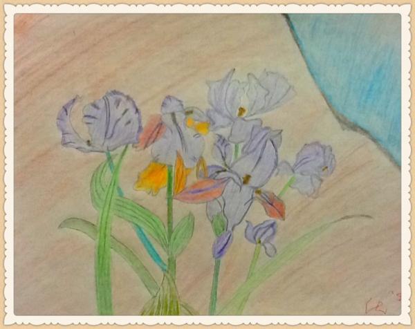 铅笔淡彩画
